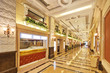 interior of luxury hall corridor
