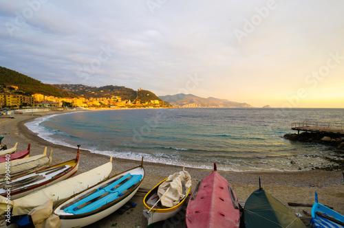 Foto op Canvas Liguria Noli Liguria