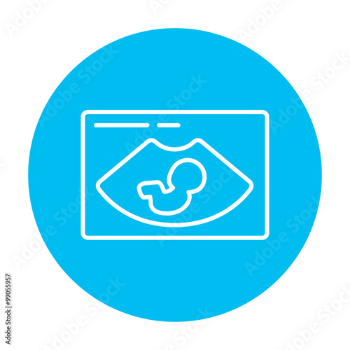 Valokuva  Fetal ultrasound line icon.
