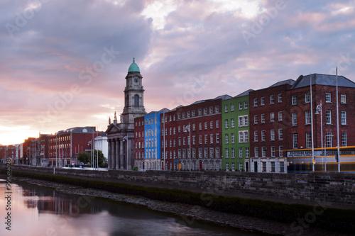 Fotografia  Sunset in Dublin, Ireland