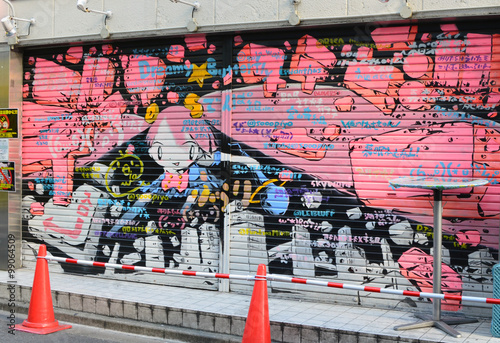 Graffiti in Akihabara Wallpaper Mural