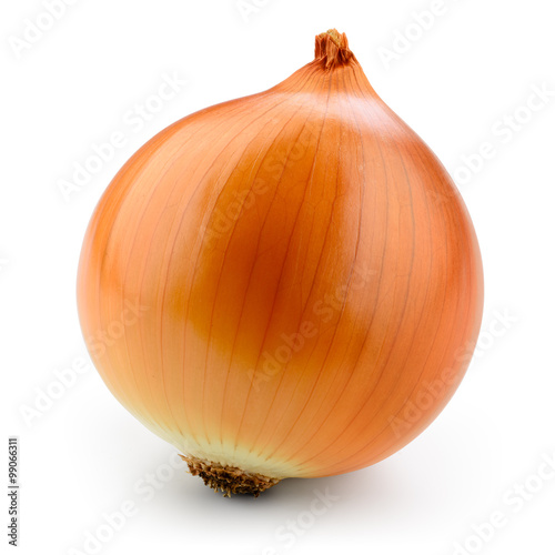 Fotografie, Obraz  Fresh onion bulb isolated on white. With clipping path.