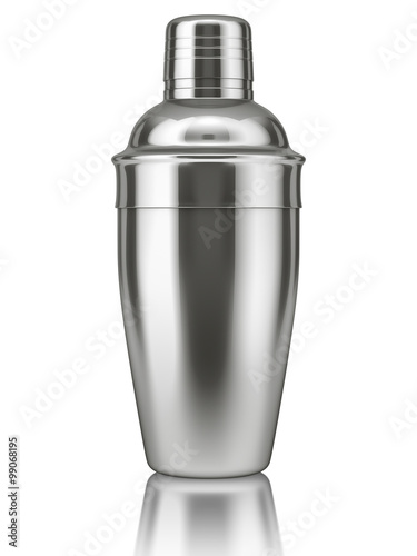 Photo Cocktail shaker on white background