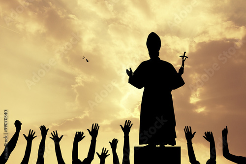 Photo pope silhouette