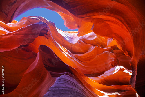 Foto op Canvas Rood traf. Lower Antelope Canyon view near Page, Arizona