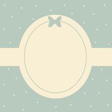 Cute Blue Card Frame Vector Illustration Background