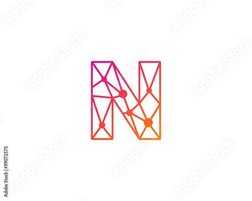 Connect line letter n logo design template element buy this stock connect line letter n logo design template element maxwellsz