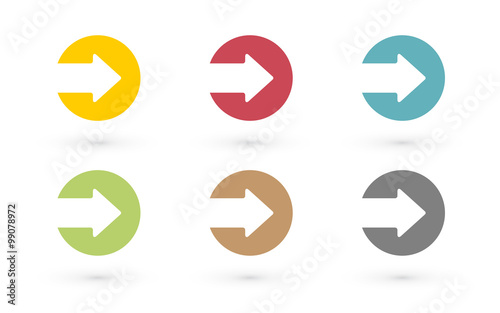 Tablou Canvas colorful arrows in circle icon