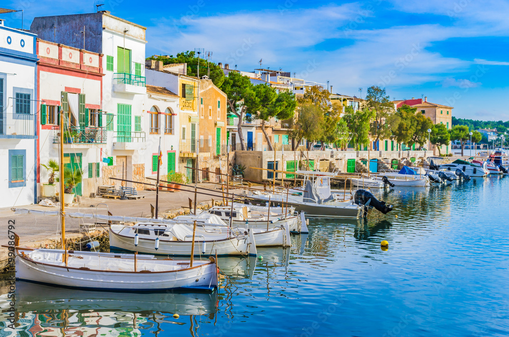 Fototapety, obrazy: Anblick Hafen Idylle Boote Häuser Mediterran