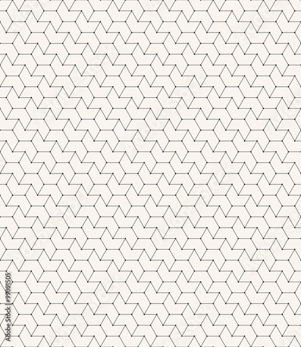 chevron outline pattern with small dots on corners. Wallpaper Mural