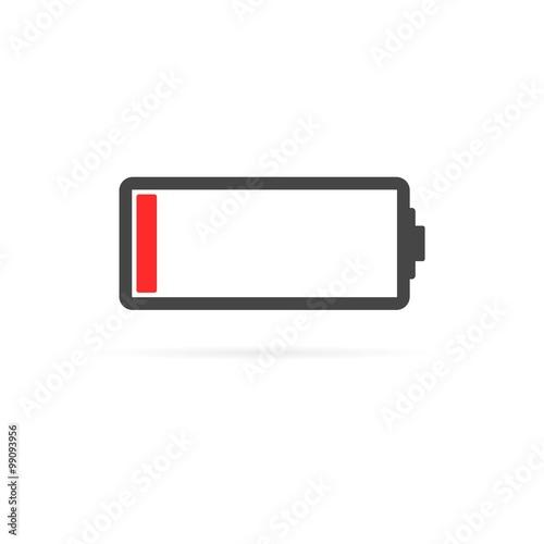 Obraz Low battery icon - fototapety do salonu