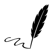Feather Quill Pen Signature Fl...