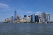 Lower Manhattan in New York City in the background. The new World Trade Center Freedom Tower as seen Summer 2015
