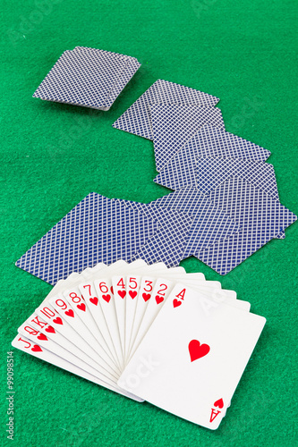 фотография  Image related to classic and online casino  games  on a game cards background fr