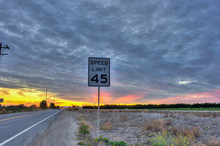 Speed Limit Sign Posted Under ...