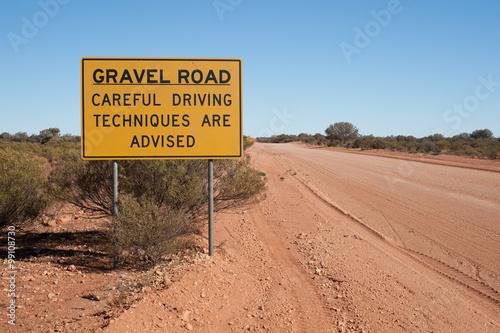 Fotografia, Obraz  Australian Outback Road Sign