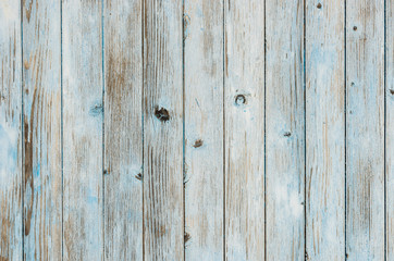 Fototapeta Grey and blue background of wooden plank