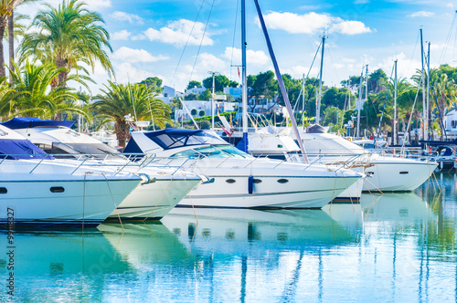 Plakat Marina Boats Yachts Sailboats Luxury
