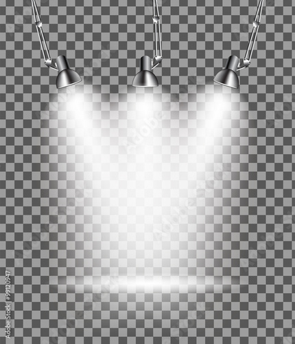 Foto op Canvas Licht, schaduw Bright with Lighting Spotlights Lamp