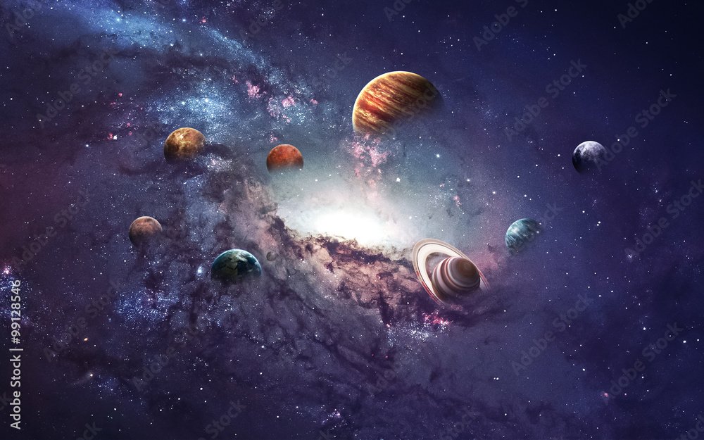 Fototapety, obrazy: High resolution images presents creating planets of the solar system. This image elements furnished by NASA
