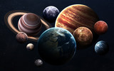 Fototapeta Kosmos - High resolution images presents planets of the solar system. This image elements furnished by NASA