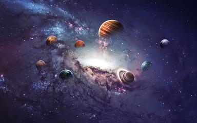 Obrazy o wysokiej rozdzielczości przedstawiają tworzenie planet Układu Słonecznego. To elementy obrazu dostarczone przez NASA