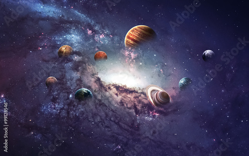 High resolution images presents creating planets of the solar system Принти на полотні
