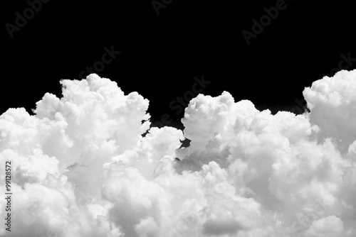 obraz PCV White cloud on black background
