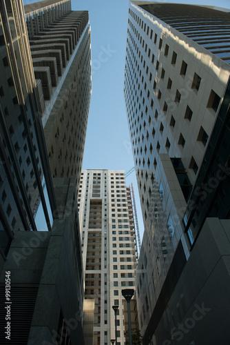 Fototapety, obrazy: Tel Aviv skyscrapers street view, Azrieli Centre