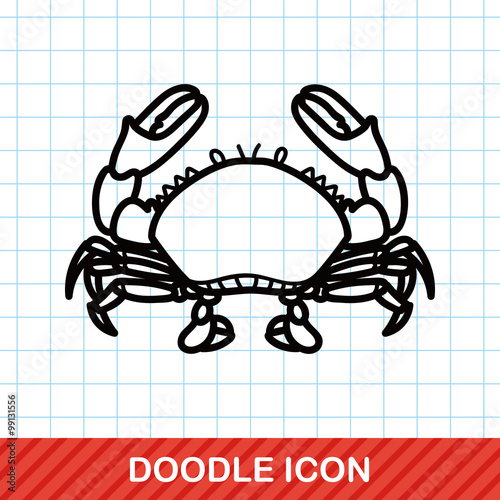 sea animal crab doodle Poster