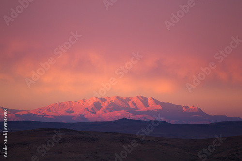 Atlas mountain in suset light