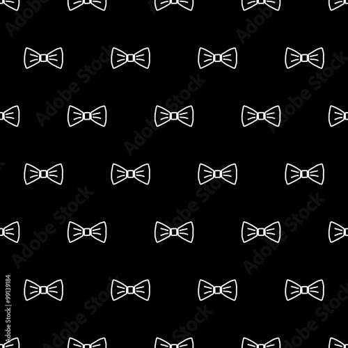 Bow Tie Seamless Pattern Fashion Graphic Background Design Modern Stylish Texture With