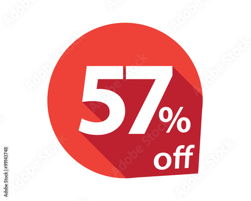 Valokuvatapetti 57 percent discount off red circle