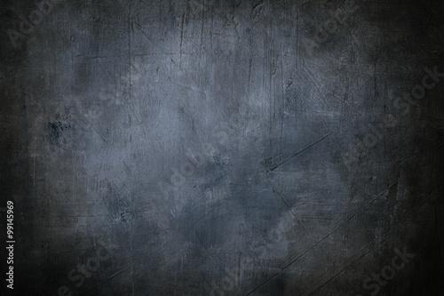 Foto  Grunge blauer Hintergrund oder Textur mit dunklen Vignette Grenzen