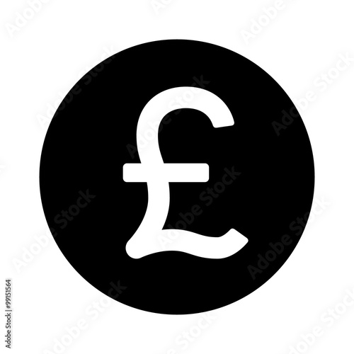 British Pound Sterling Round Currency Symbol Flat Icon For Apps And