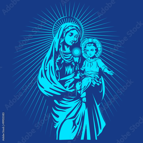 Fototapeta the virgin mary