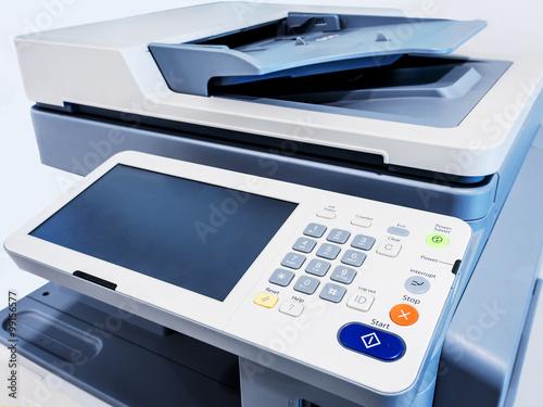 Fotografía  Impresora funcione dispositivo de escáner de la copiadora
