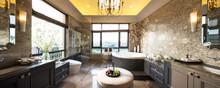 Pano Interior Of Modern Bathroom