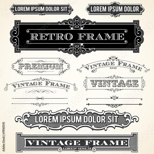 Obraz Vintage Labels and Ornaments  - fototapety do salonu