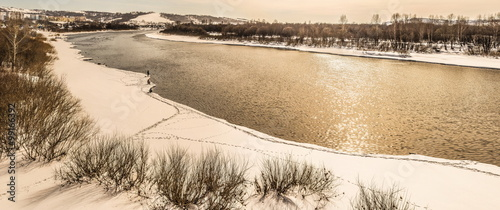 The river in winter - 99166392