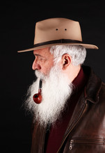 Bearded Man With Hat And Tobac...