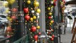 Christmas decoration of the restaurant