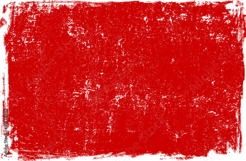 Fotografie, Obraz  Red grunge scratched background texture