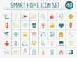 Smart house concept. Icon set. Flat style design