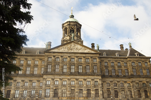 Photo  The Royal Palace in Amsterdam, Netherlands