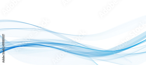 abstract blue line wave whit background
