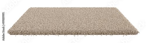 Obraz na plátně Rectangle carpet isolated on white background