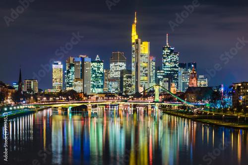 Foto-Kissen premium - Skyline von Frankfurt, Deutschland (von Mapics)