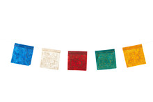 Buddhism Flags In A Row