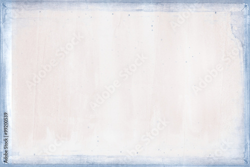Fotografie, Obraz  pastel pink texture background with blue border